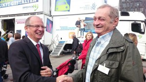 Armin Serwani m Gespräch mit Rainer Reichhold, Präsident der Handwerkskammer Region Stuttgart