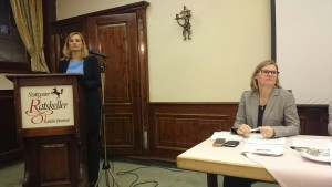 v.l.n.r. Isabel Fezer, Sozialbürgermeisterin, Charlotta Eskilsson, stv. Kreisvorsitzende