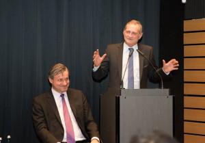 v.l.n.r. Dr. Hans-Ulrich Rülke MdL Vorsitzender der FDP/DVP-Landtagsfraktion, Armin Serwani, Kreisvorsitzender der FDP Stuttgart
