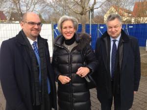 v.l.n.r. Dr. Jan Havlik, Bezirksvorsteherin Ulrike Zich, OSZE-Direktor Michael Link