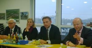v.l.n.r. Gabriele Heise, Christian Lindner MdL, Michael Theurer MdEP
