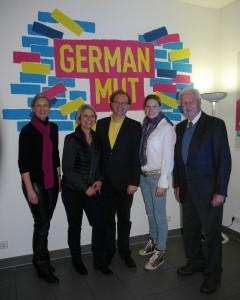 v.l.n.r. Gabriele Heise, Gabriele Reich-Gutjahr, Michael Conz, Lencke Steiner